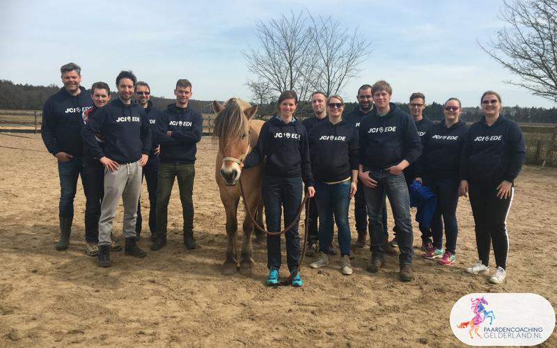 15.Leiderschapstraining paarden teamtripper JCI Ede Laag Soeren april 2018